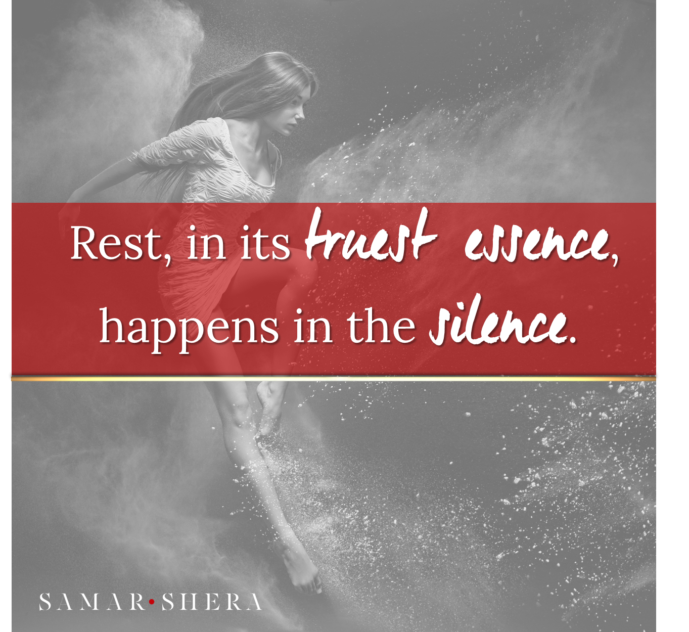 Rest, in its truest essence, happens in the silence.