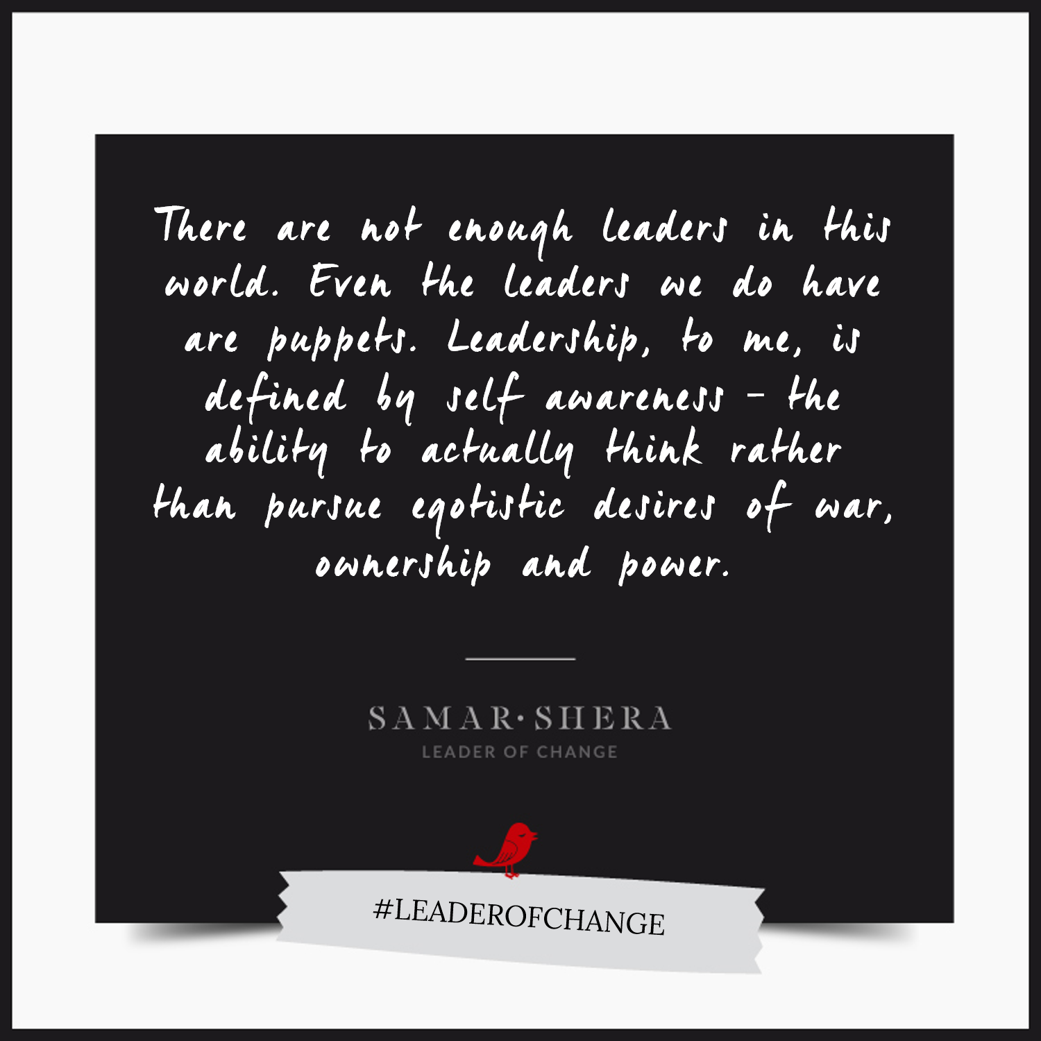 leader of change quote