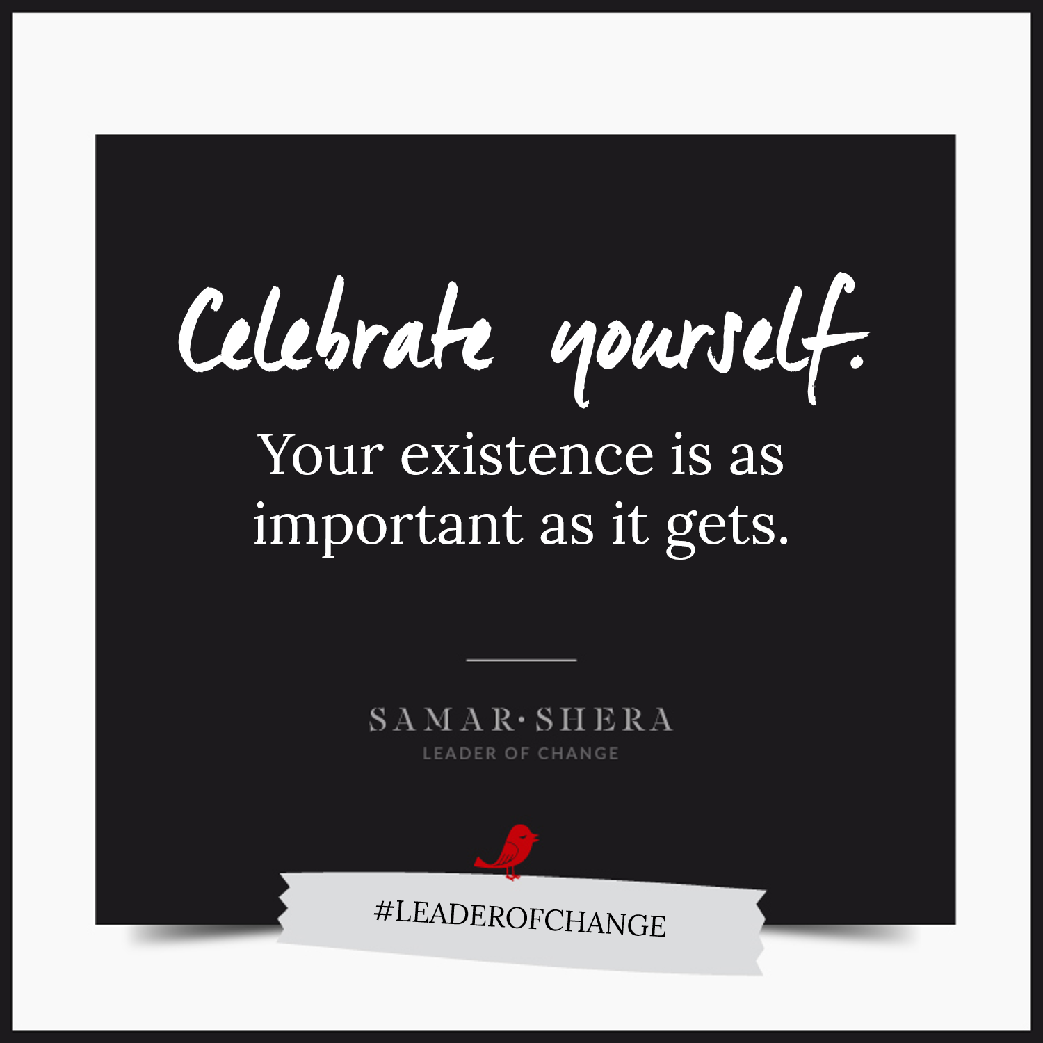 celebrate yourself